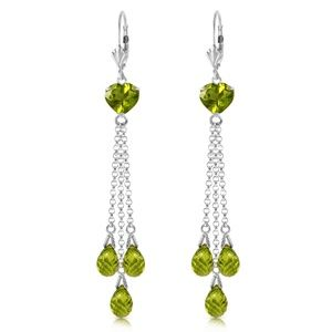 CHANDELIER EARRING WITH BRIOLETTE PERIDOTS